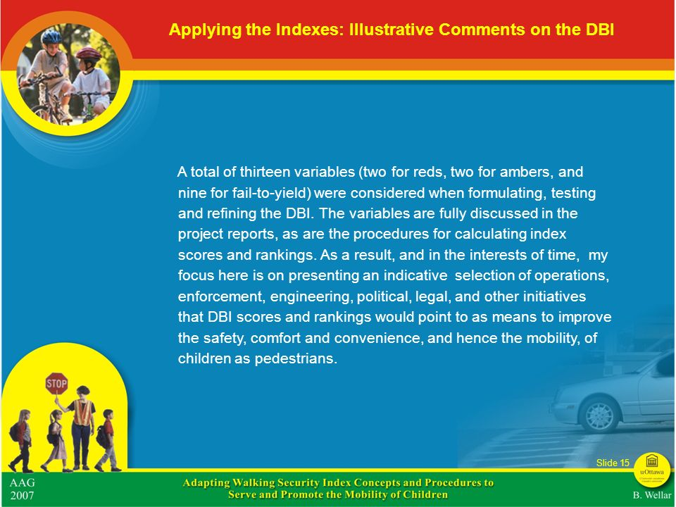 Applying the Indexes: Illustrative Comments on the DBI