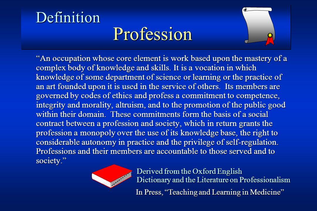 Definition Profession