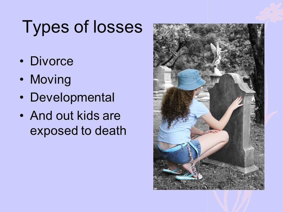 Types of losses Divorce Moving Developmental