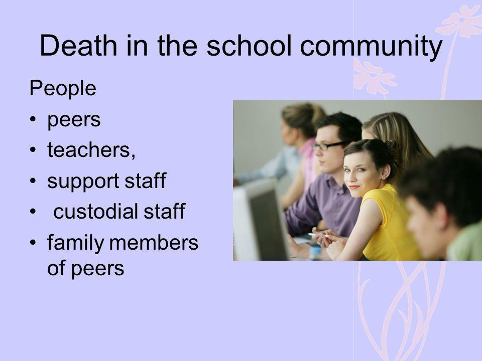 Death in the school community