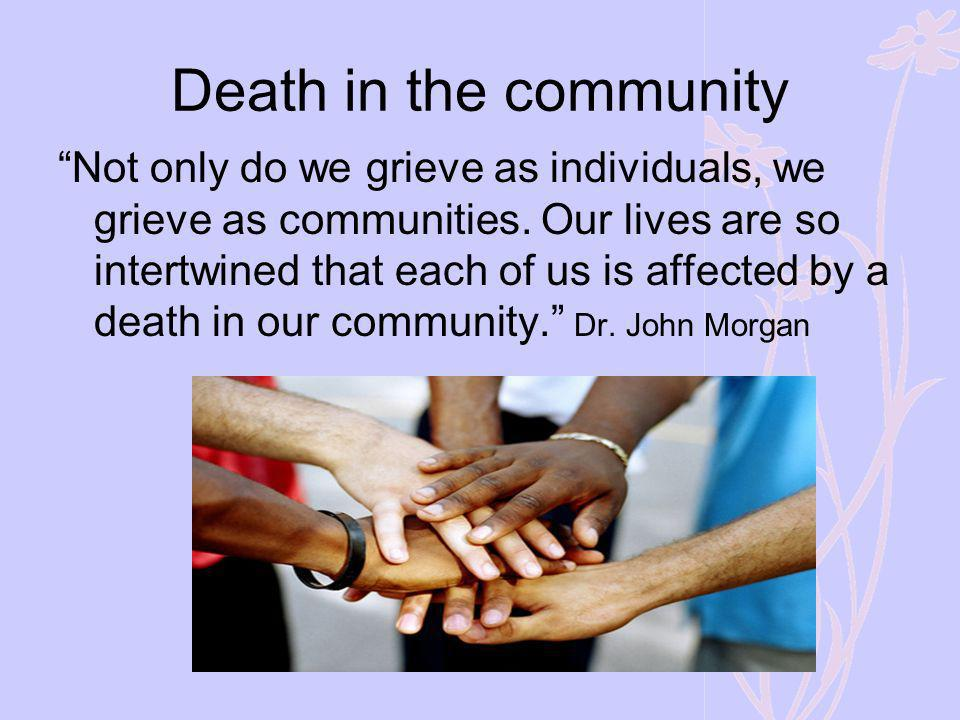 Death in the community