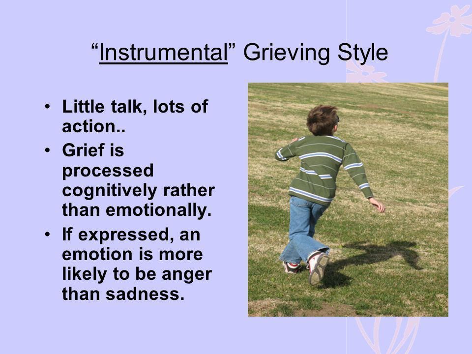 Instrumental Grieving Style