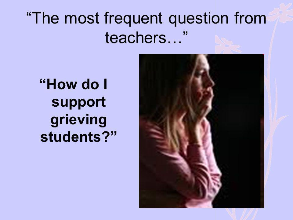 The most frequent question from teachers…