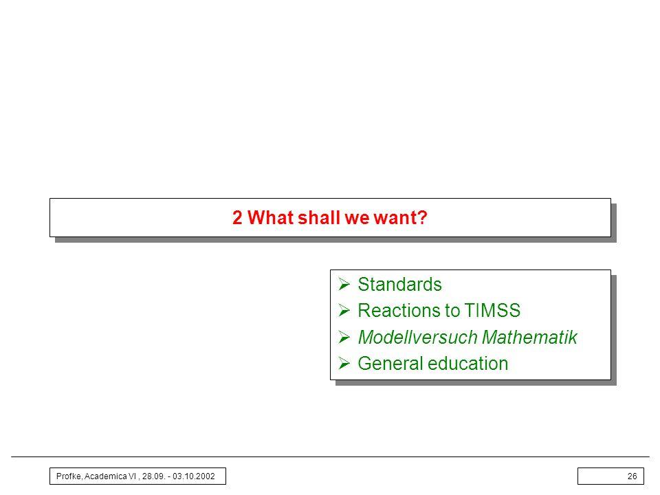 Modellversuch Mathematik General education
