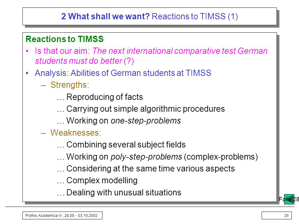 2 What shall we want Reactions to TIMSS (1)