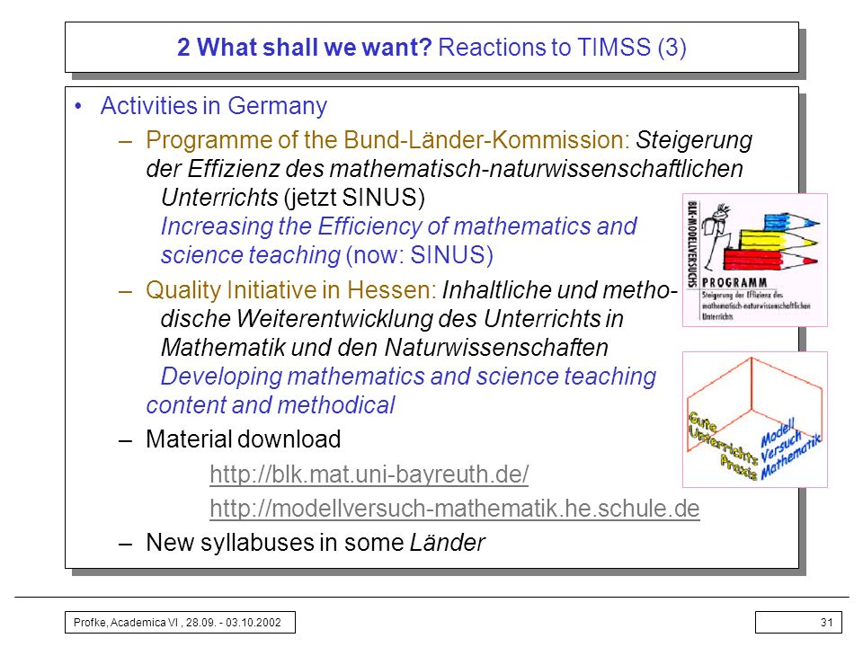 2 What shall we want Reactions to TIMSS (3)