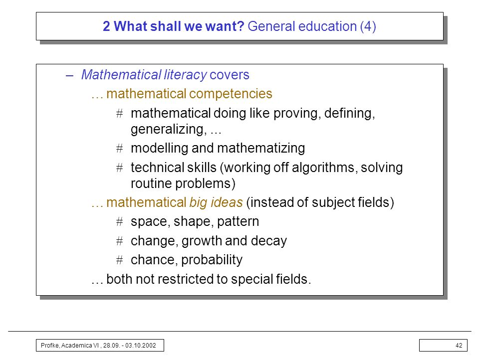 2 What shall we want General education (4)