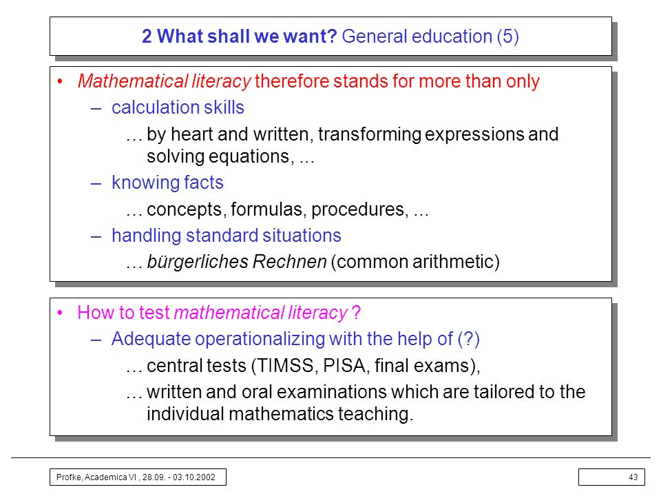 2 What shall we want General education (5)
