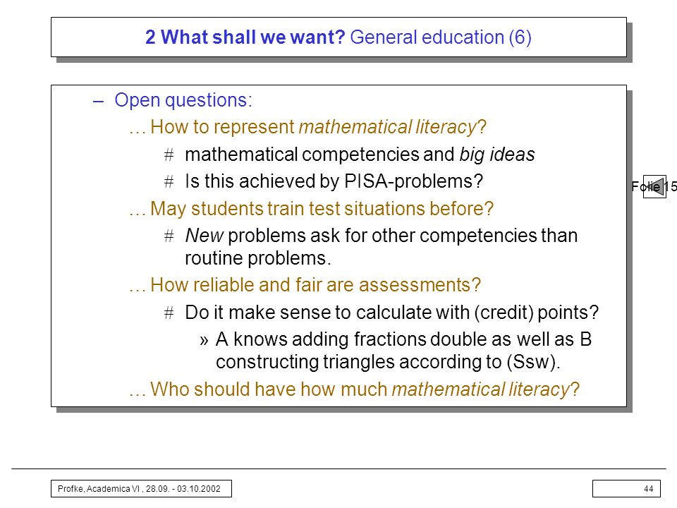 2 What shall we want General education (6)