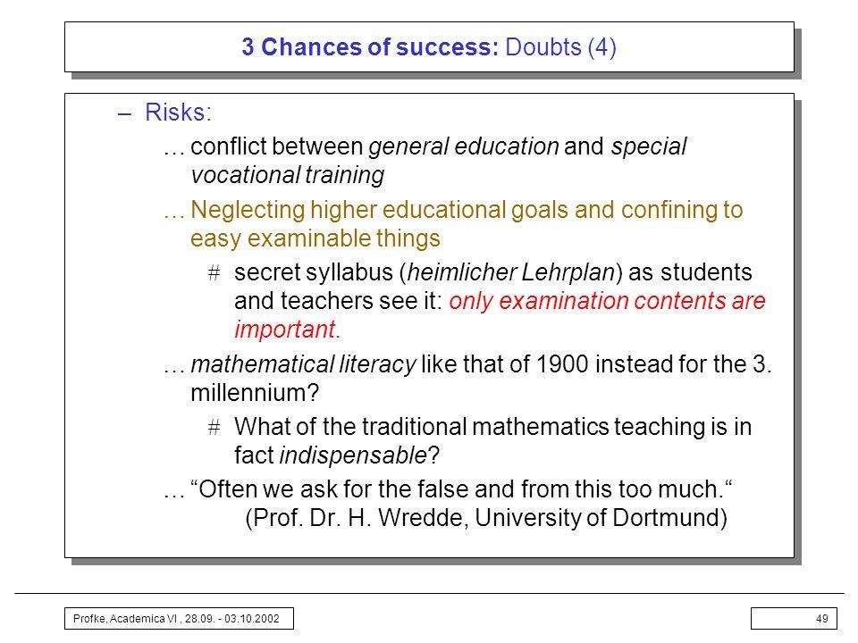 3 Chances of success: Doubts (4)