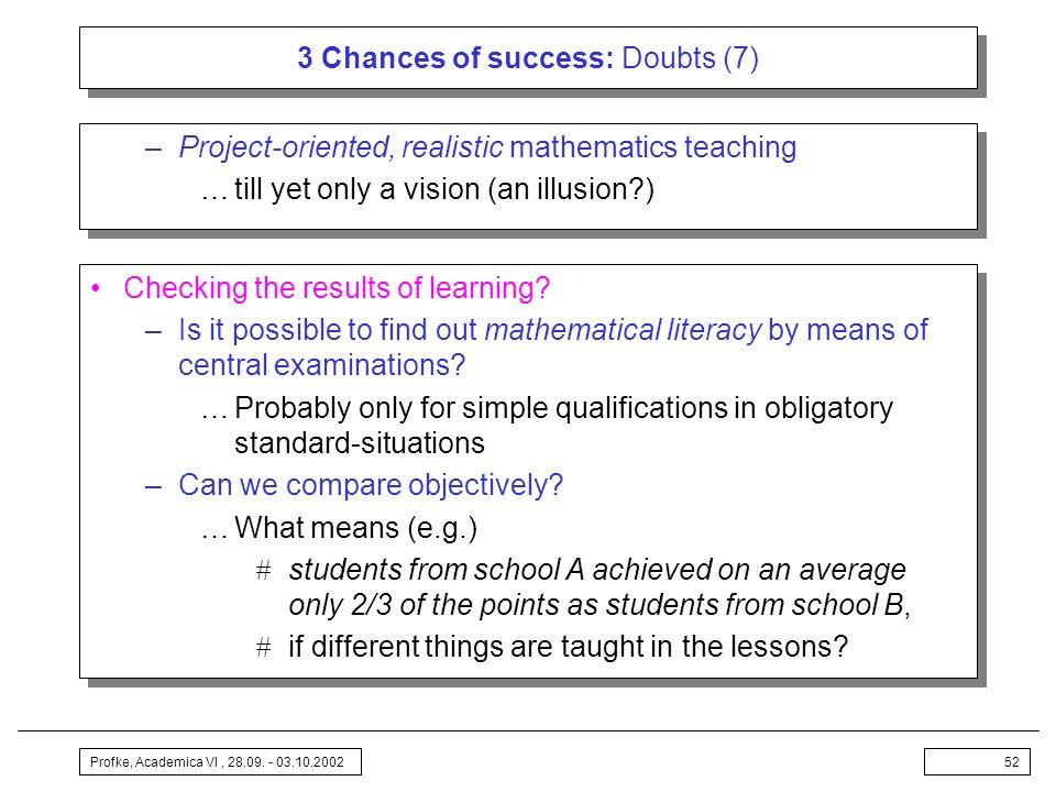 3 Chances of success: Doubts (7)
