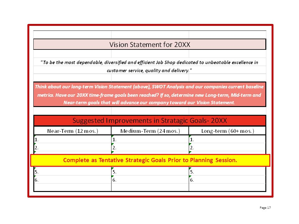 Page 2. Page 2 Data From (6) Month Review Strategic