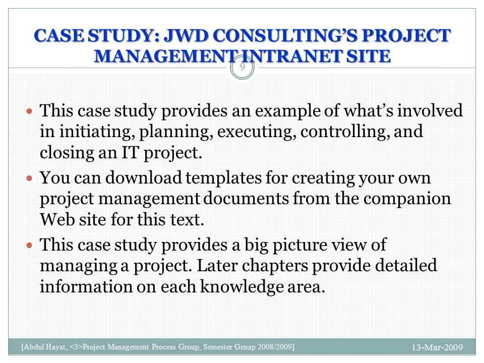 case study management consulting