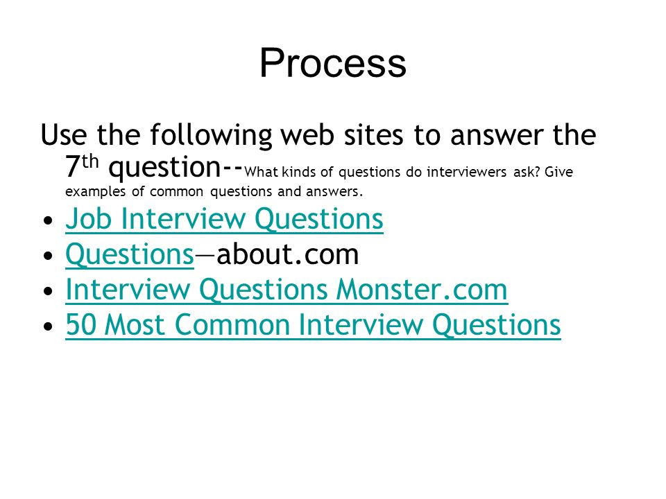14 process - Most Common Interview Questions And Answers