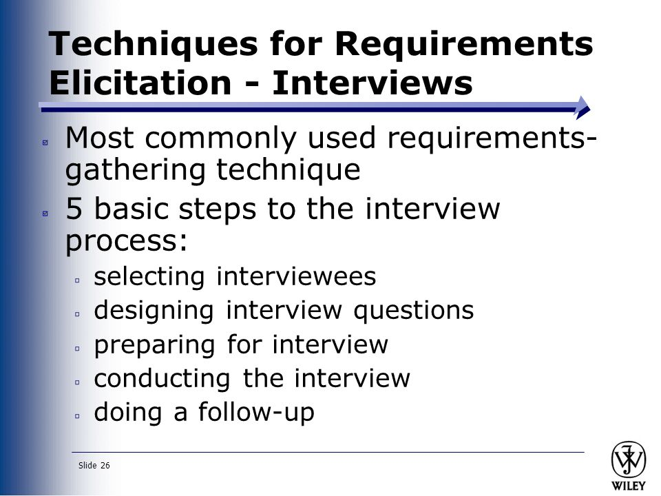 an analysis of the five steps in preparing for an interview We'll give a sample stakeholder analysis,  what are the steps in stakeholder analysis  this step of the process involves preparing a stakeholder table or.