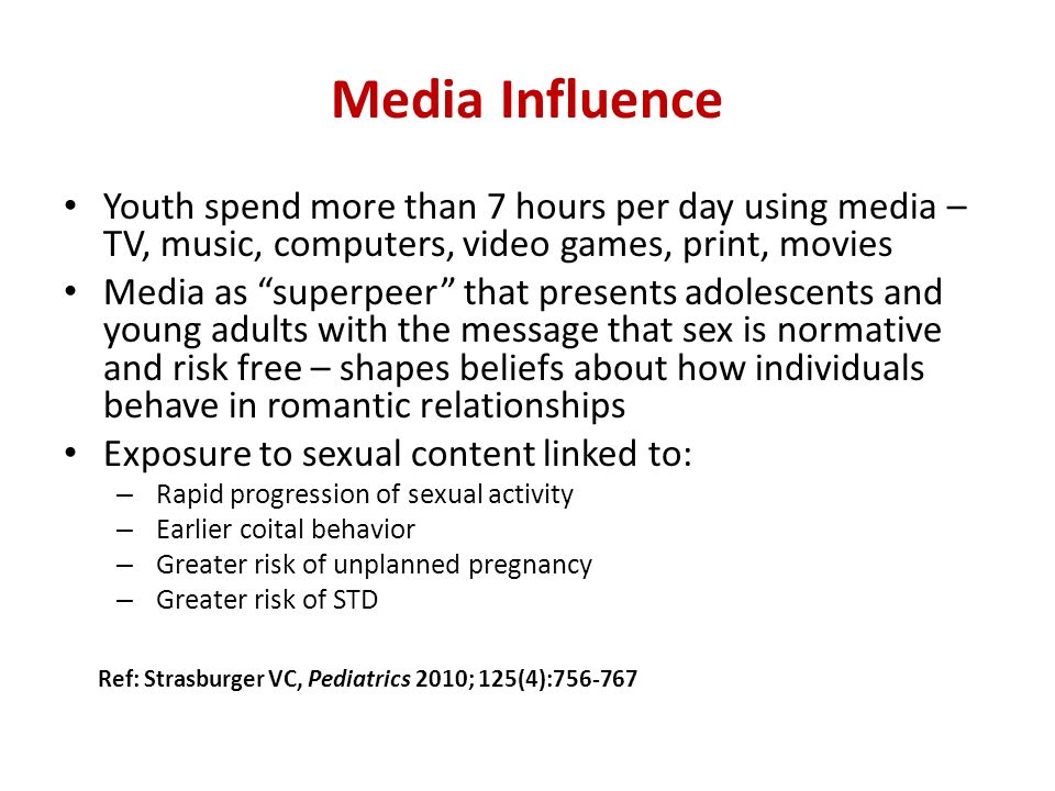 Course Media influence on young adult the moon