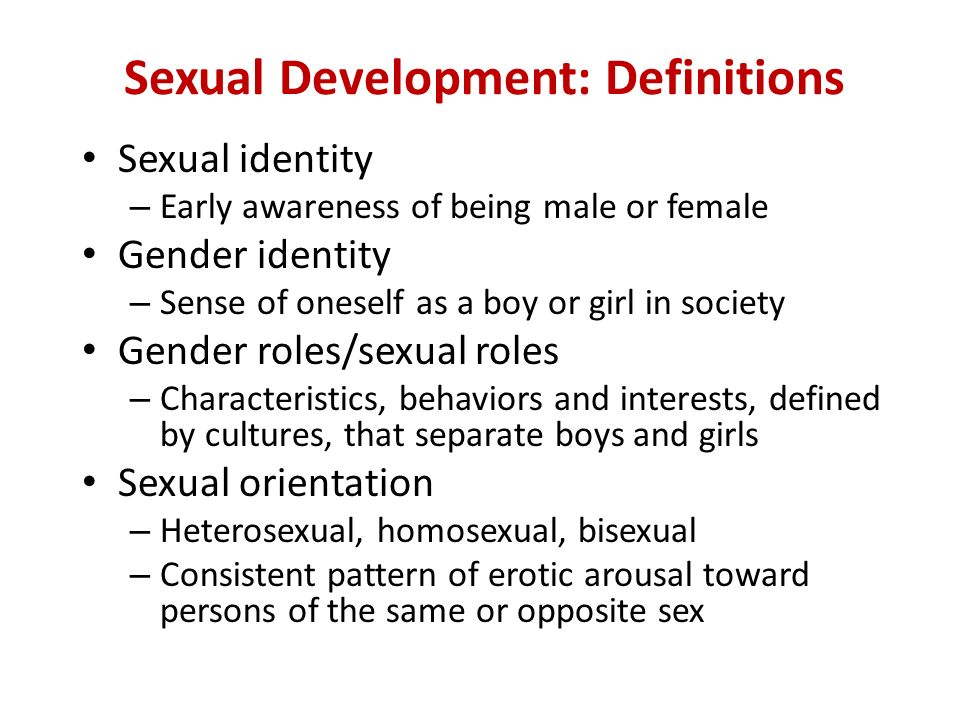 Sexual Development 4
