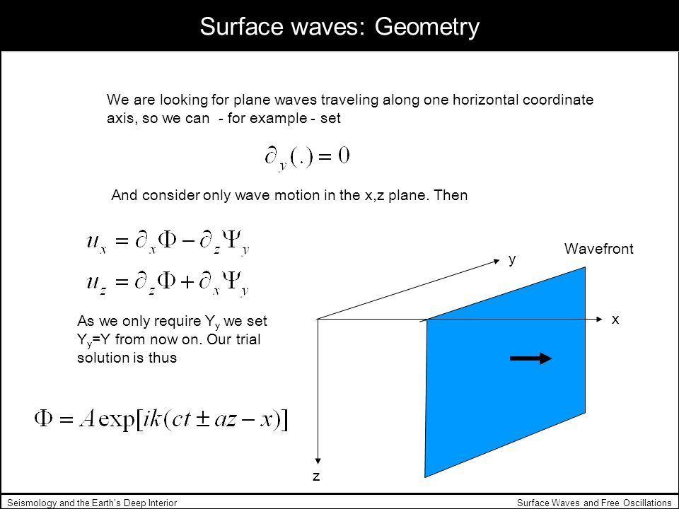 Surface waves: Geometry