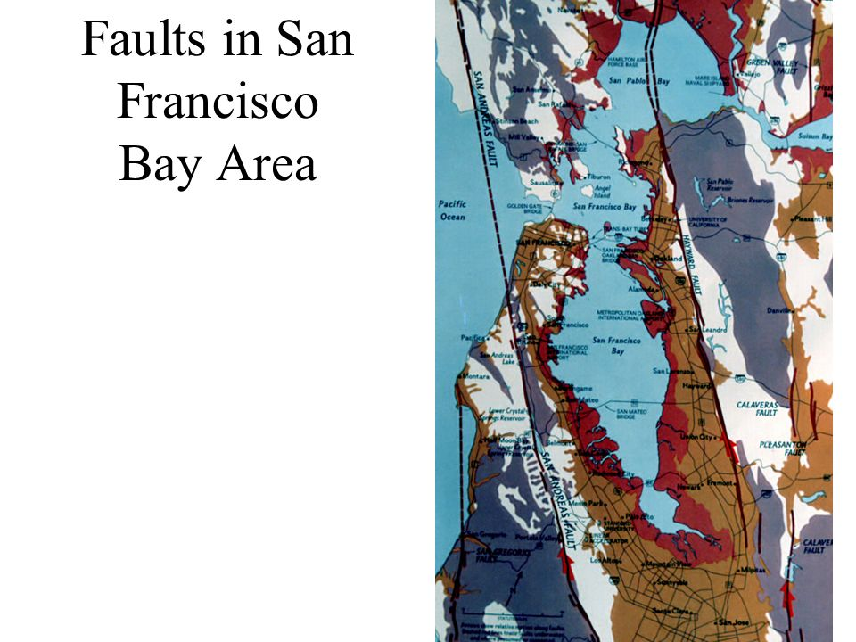 Faults in San Francisco Bay Area