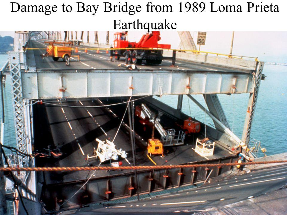 Damage to Bay Bridge from 1989 Loma Prieta Earthquake