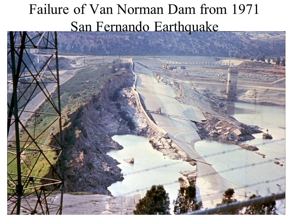 Failure of Van Norman Dam from 1971 San Fernando Earthquake