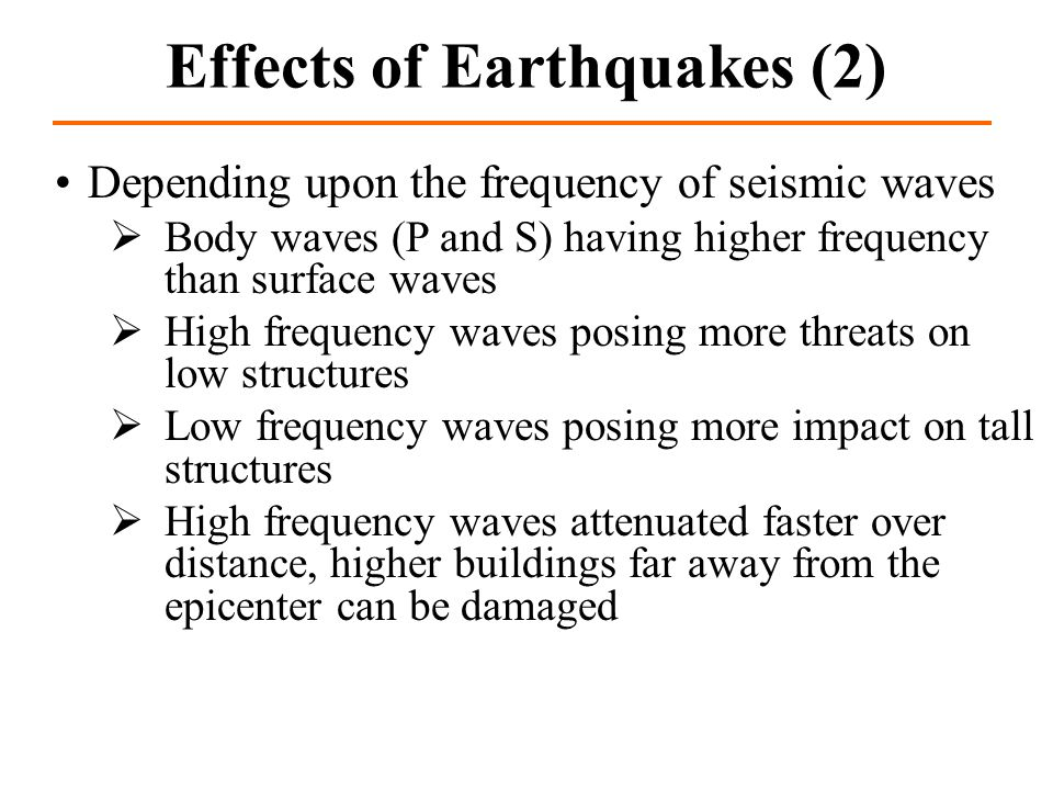 Effects of Earthquakes (2)