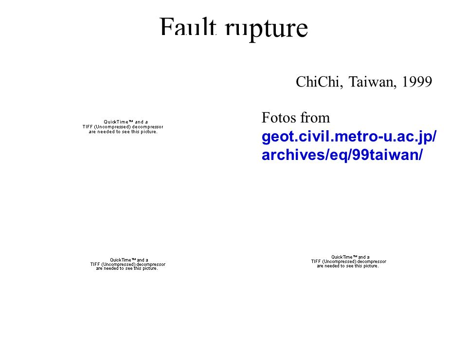 Fault rupture ChiChi, Taiwan, 1999
