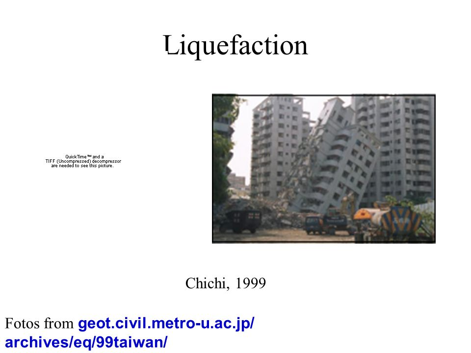 Liquefaction Chichi, 1999 Fotos from geot.civil.metro-u.ac.jp/ archives/eq/99taiwan/