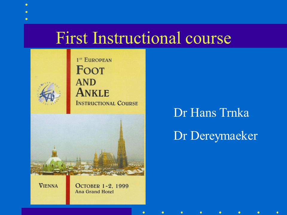 First Instructional course