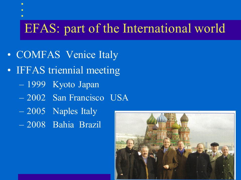 EFAS: part of the International world