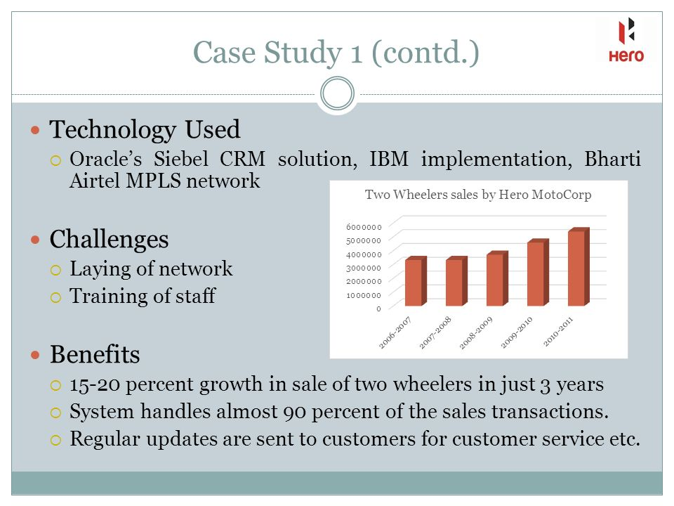 crm case study on airtel Oracle's siebel crm applications deliver a combination of transactional, analytical, and engagement features to expertly manage customer-facing operations.