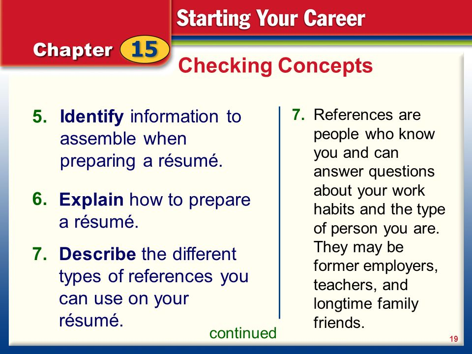 how to type references for a resume