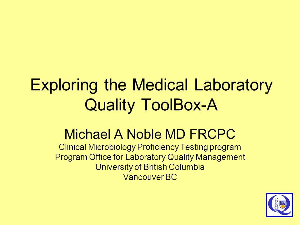 Exploring the Medical Laboratory Quality ToolBox-A