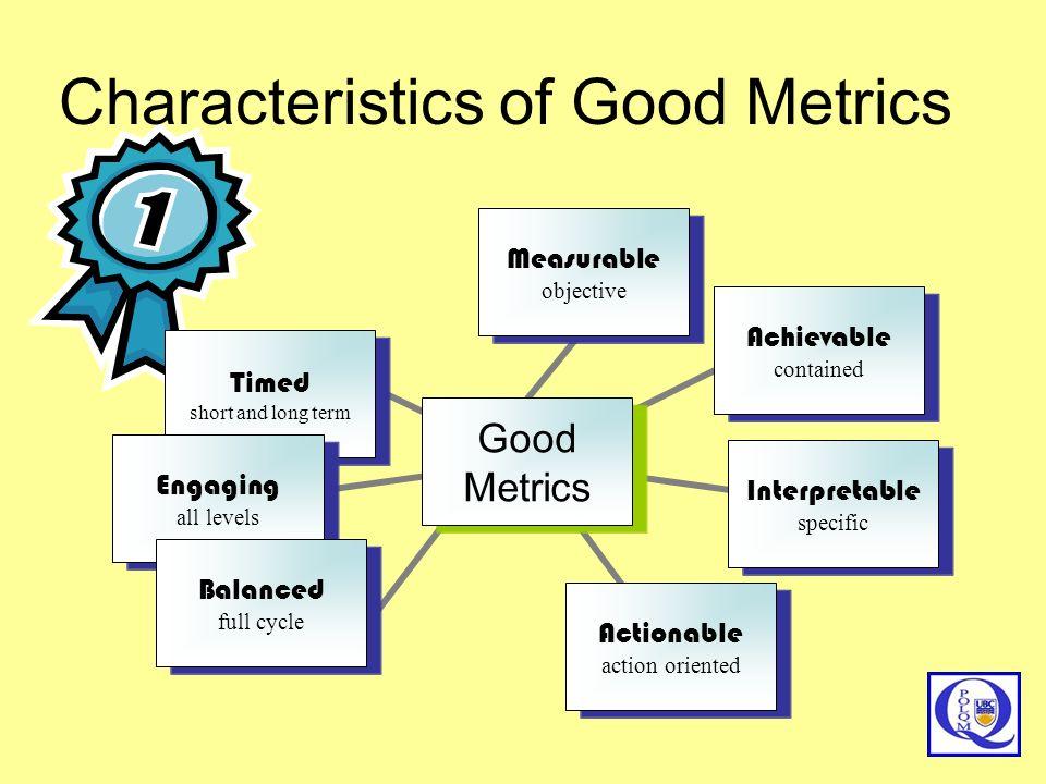 Characteristics of Good Metrics
