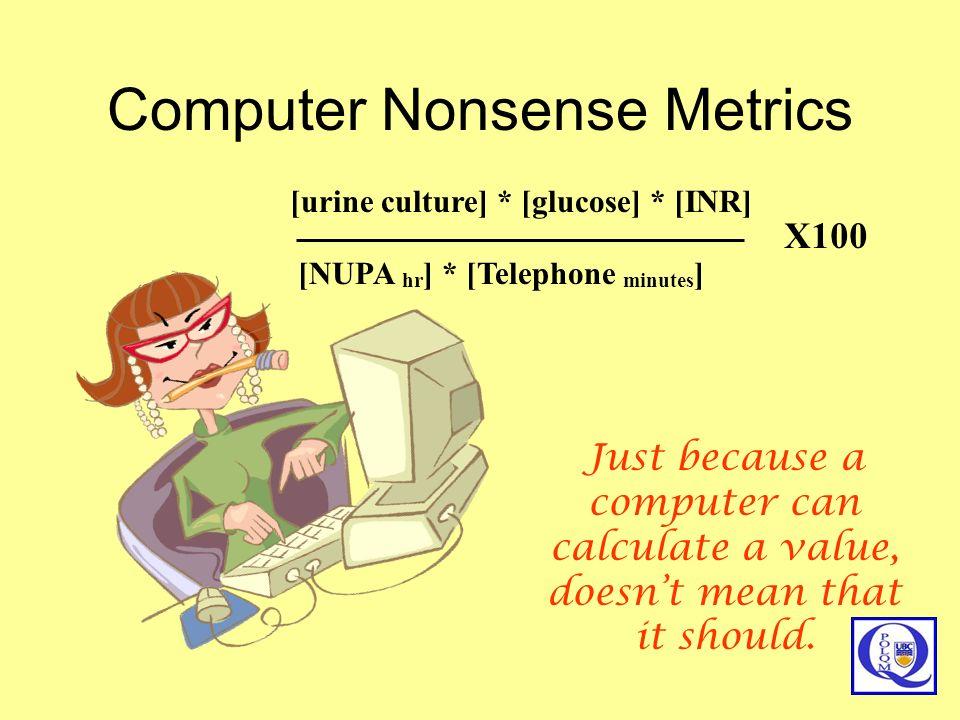 Computer Nonsense Metrics