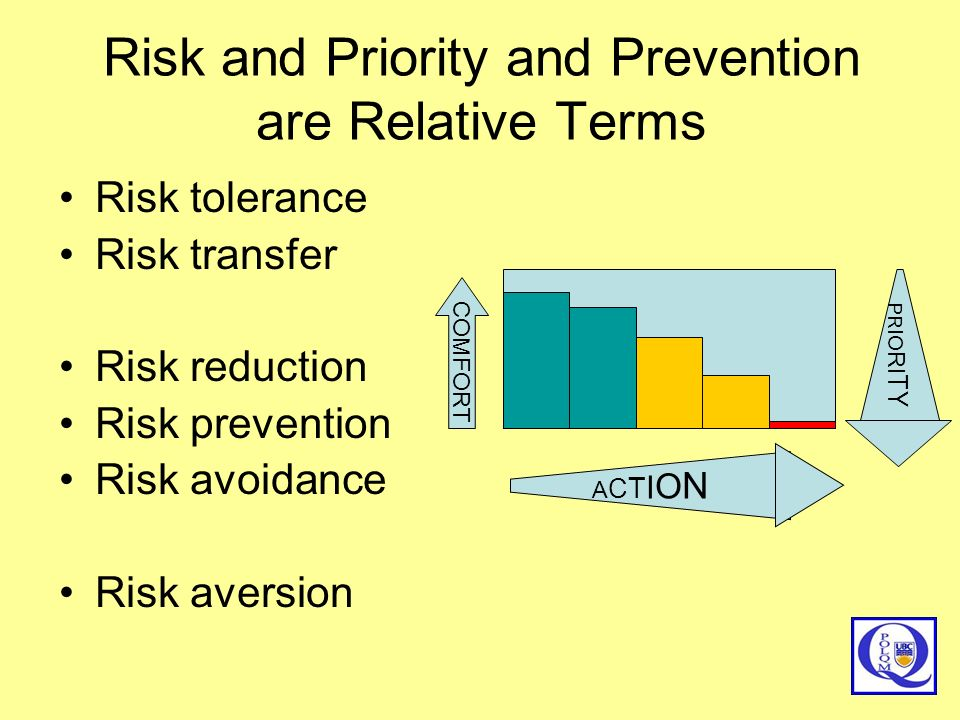 Risk and Priority and Prevention are Relative Terms