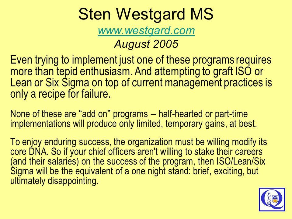 Sten Westgard MS www.westgard.com August 2005