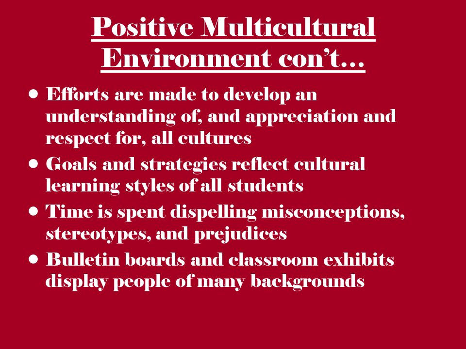 """goals and misconceptions about multicultural education Primary goal of multicultural education as transforming schools so that """"all  """" myths of multiculturalism fed to all school children by a state."""