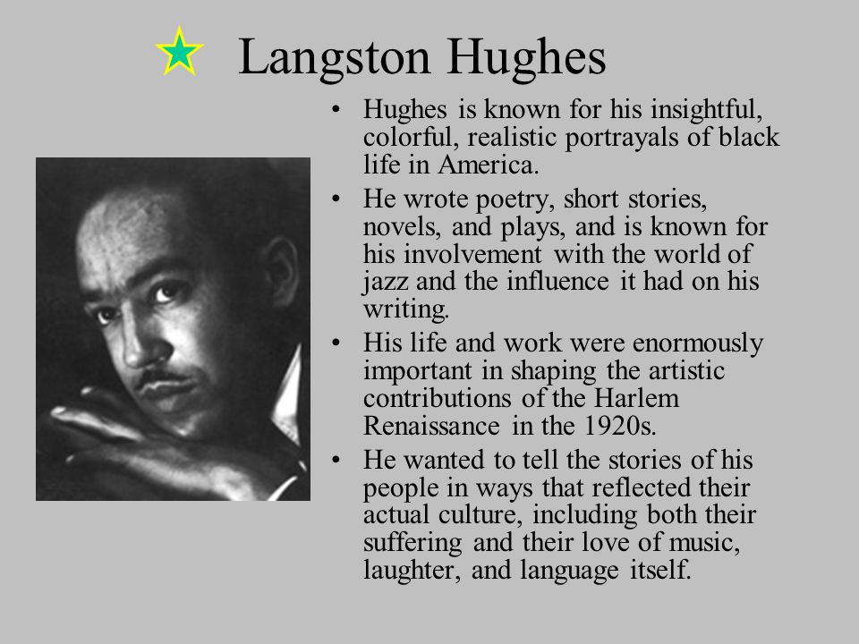 american poets langston hughes essay Langston hughes in central asia by david chioni moore the celebrated african american poet langston hughes journeyed through soviet central asia in the early 1930s, recording and observing what he considered to be a land of great hope and promise that contrasted starkly with the segregation and racism plaguing the american south at the same time.