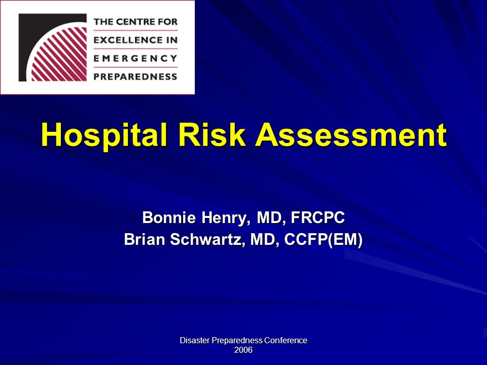 Hospital Risk Assessment