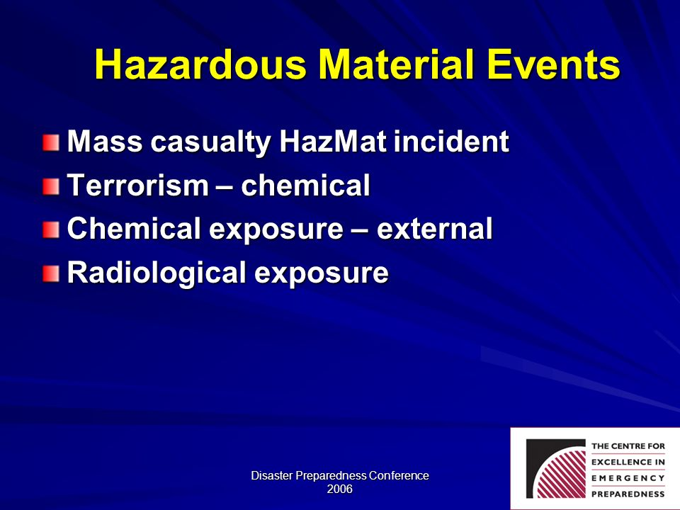 Hazardous Material Events