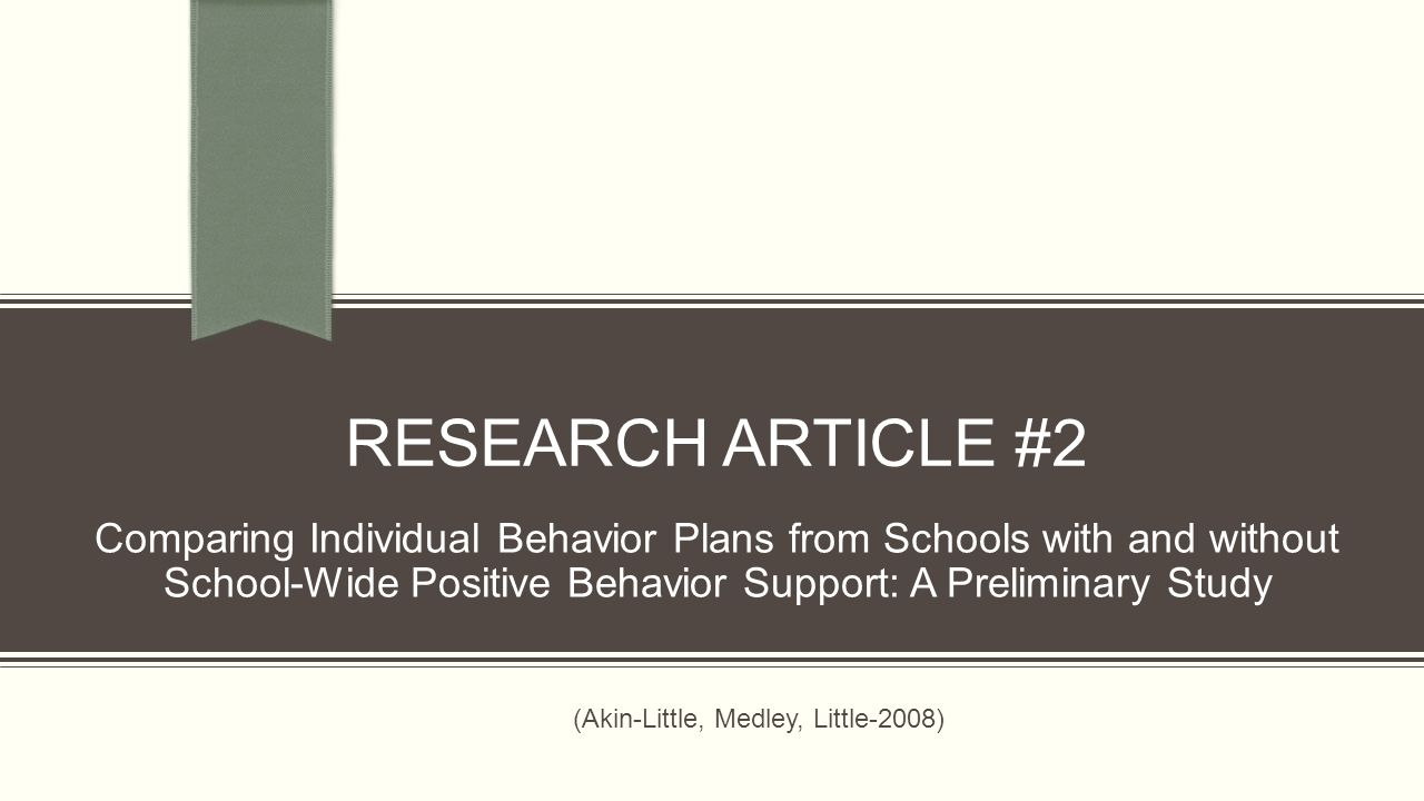 journal posting beneficial behaviour support