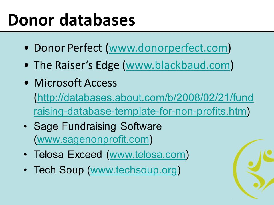 donor database template