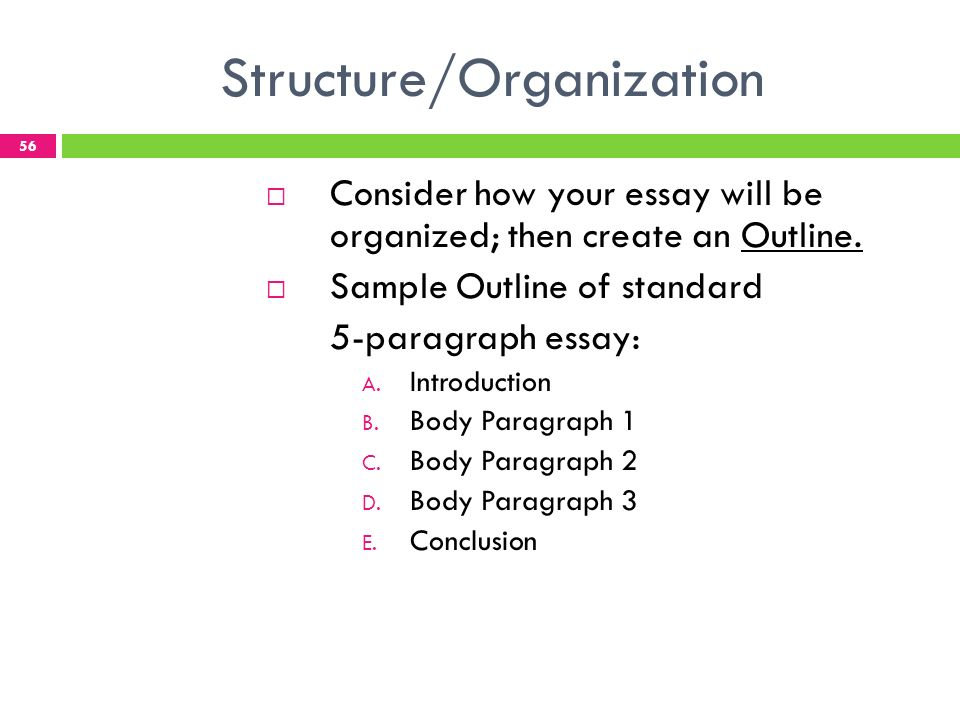 structuring a 5 paragraph essay
