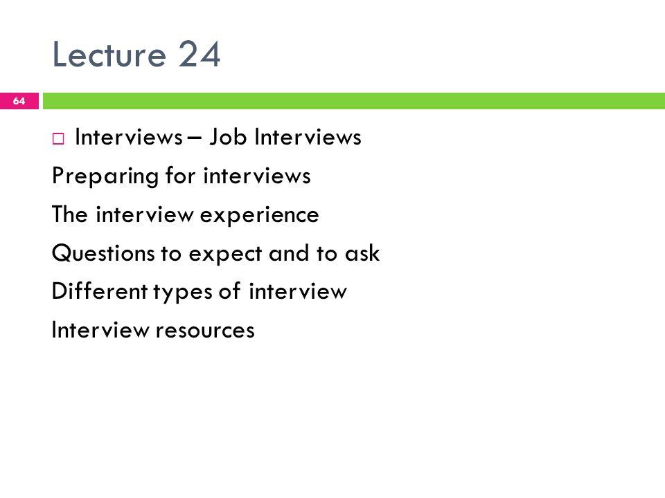different types of job interviews pdf