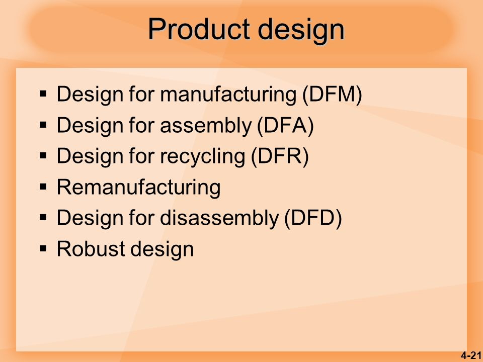 Product and service design ppt video online download for Product design manufacturing