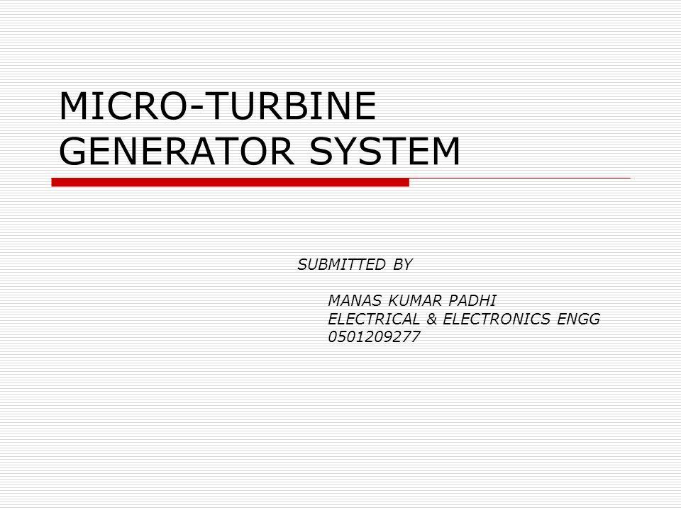 MICRO-TURBINE GENERATOR SYSTEM