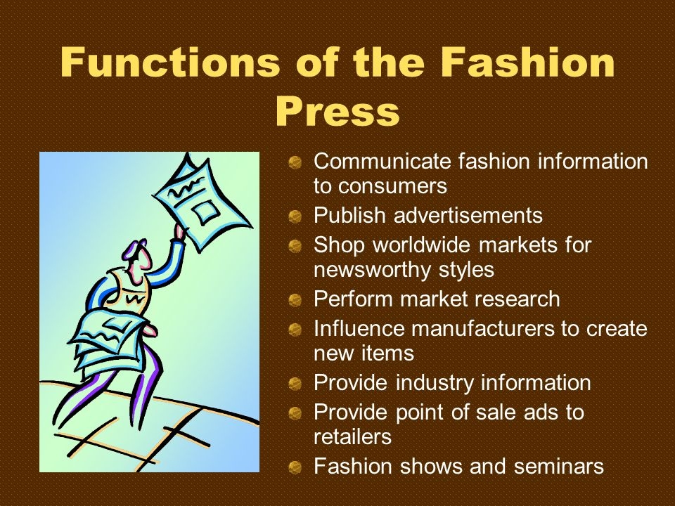 Functions of the Fashion Press