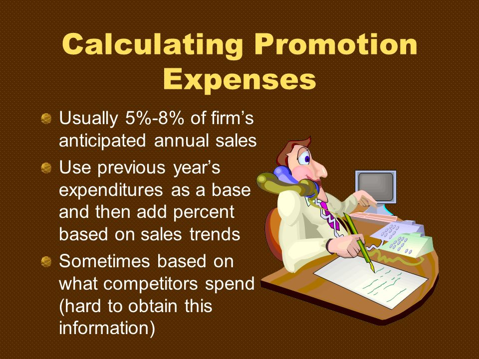 Calculating Promotion Expenses