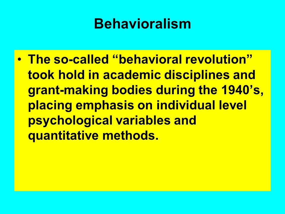 Behavioralism